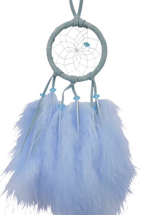 Dream Catcher w/ Fluffy Feathers - 2 Inch
