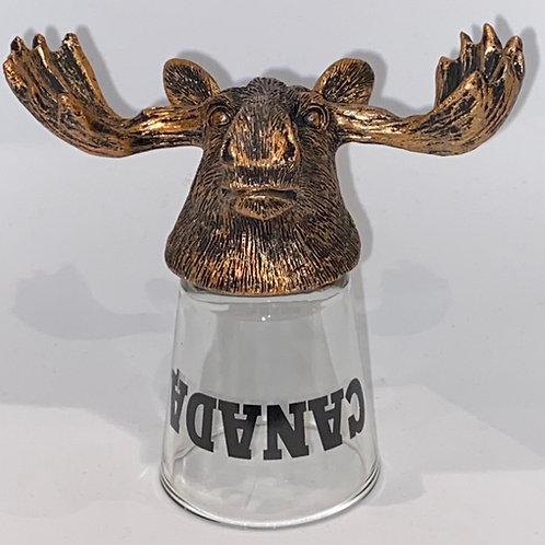 Upside Down Moose Shot Glass