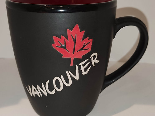 Vancouver Mug w/ Maple Leaf