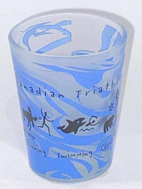 Canadian Triathalon Swirl Shot Glass