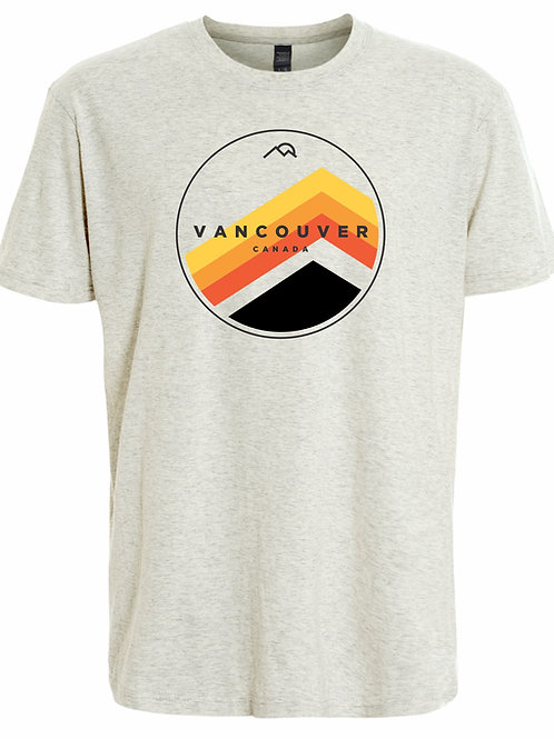 Color Mountain Circle Adult T-Shirt