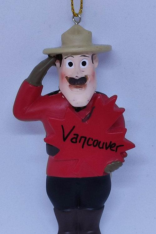 RCMP Mountie Ornament