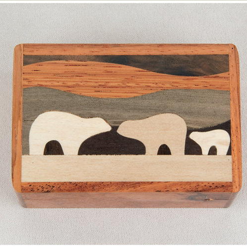 Bear Country Wood Box - Northwoods