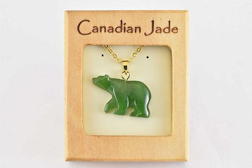 Jade Bear Pendant