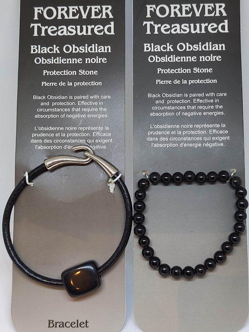 Black Obsidian Bracelets