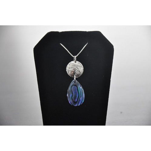 Eagle with Paua Shell (Glacier Pearle) Pendant with Chain