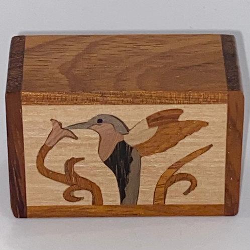 Humming Bird Wood Box - Northwoods