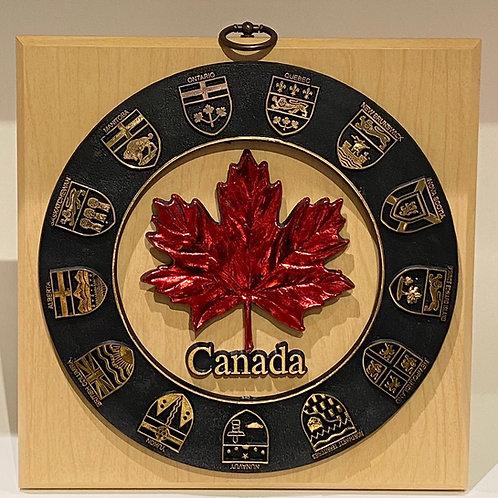 Wood Plaque w/ Provincial Shields