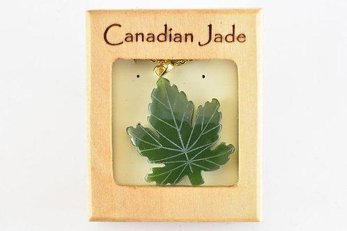 Jade Maple Leaf Pendant