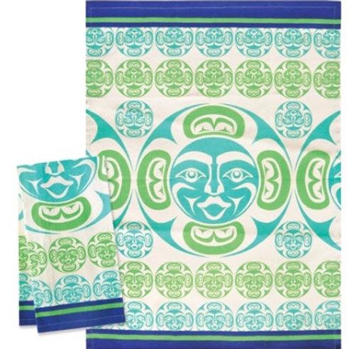 Printed Tea Towel - Moon
