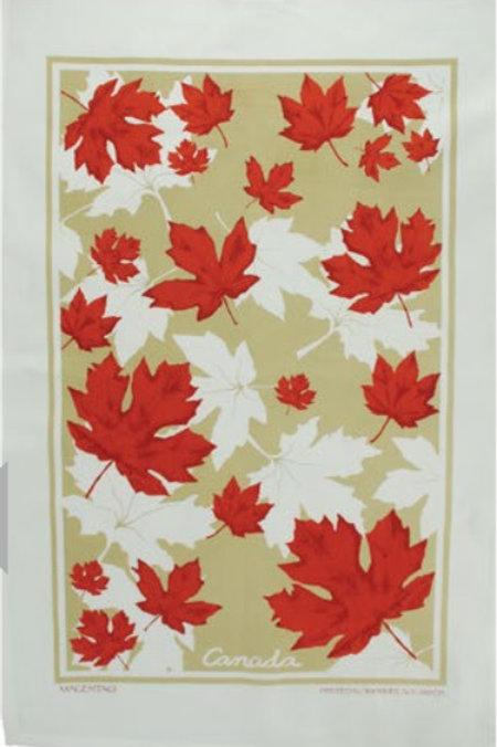 Falling Maple Leaves Tea Towel