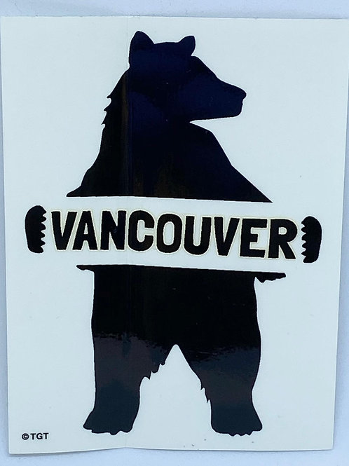 Silhouette Black Bear Van Sticker