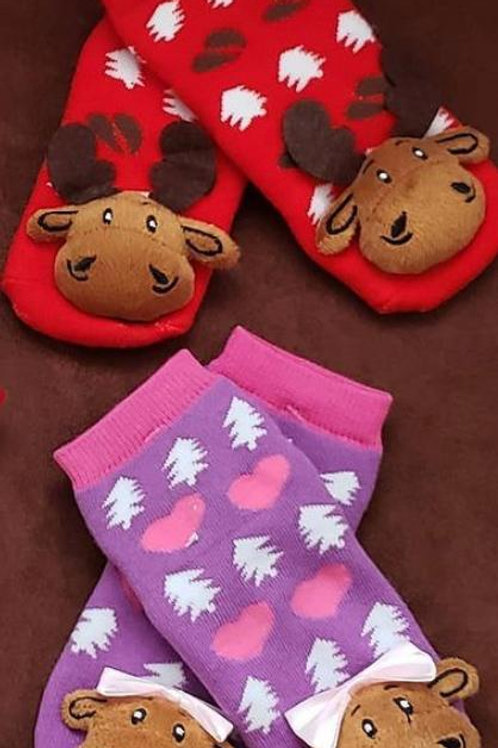 Plush Moose Socks