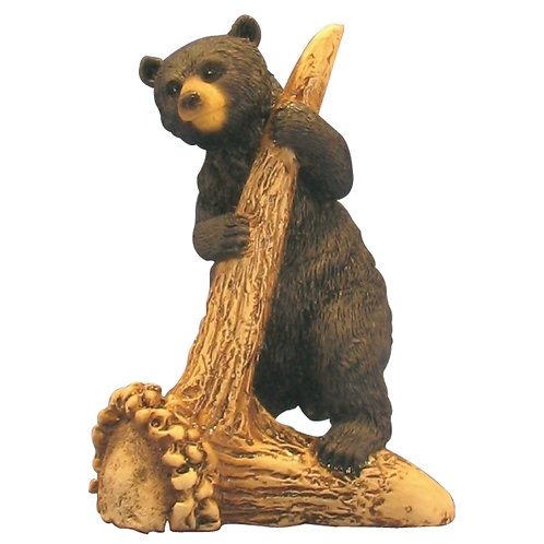 Black Bear on Antler