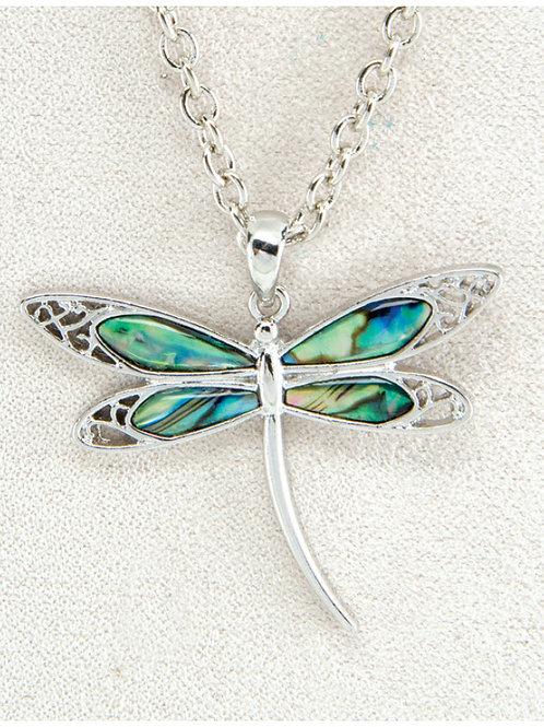 Glacier Pearl Dragonfly Pendant