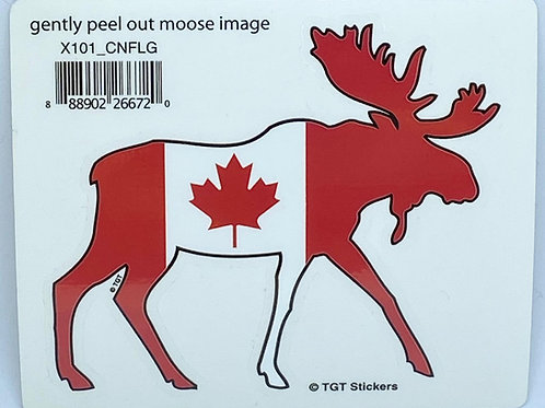 Moose Flag Sticker