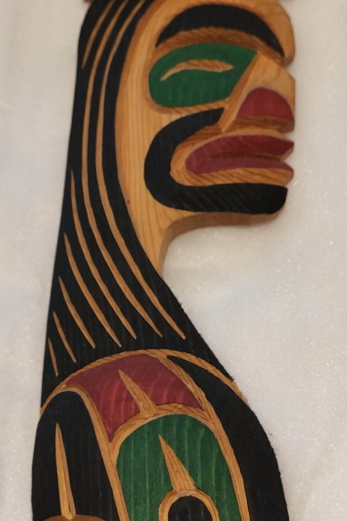 Haida Chief & Bear Wood Carving