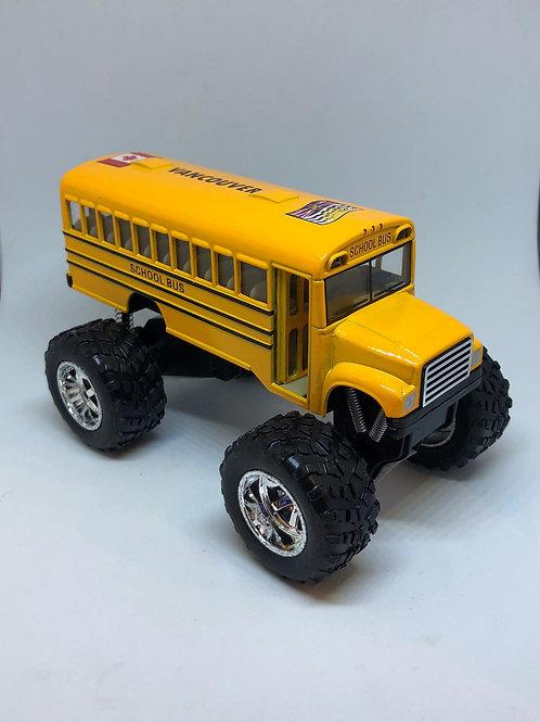 Metal School Bus w/ Monster Wheels