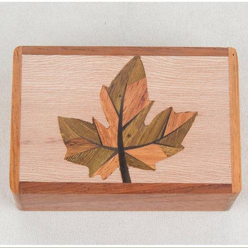 Maple Leaf Wood Box - Northwoods