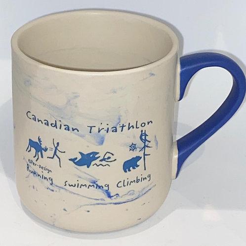 Canadian Triathalon Swirl Mug
