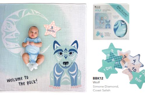 Baby Blanket & Milestone Set
