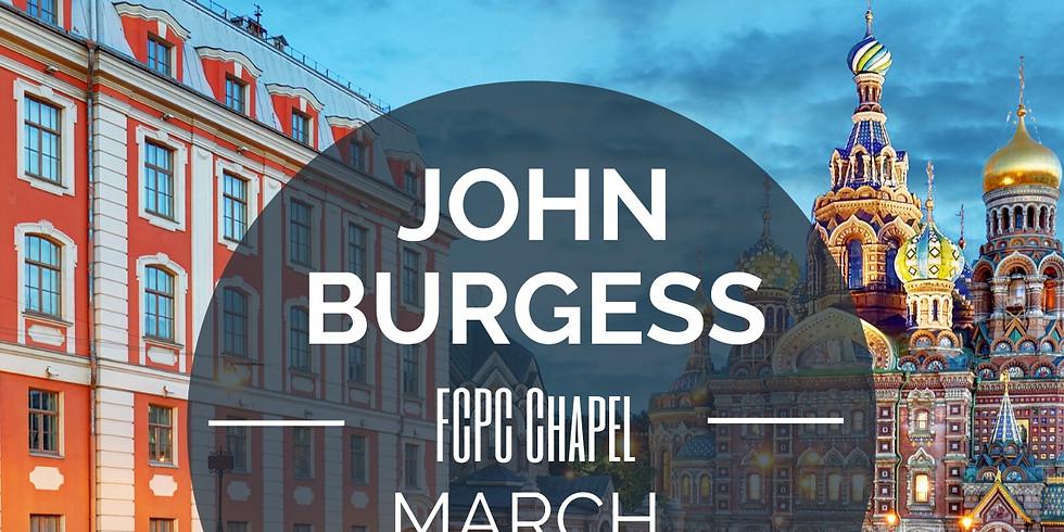 Special Speaker John Burgess