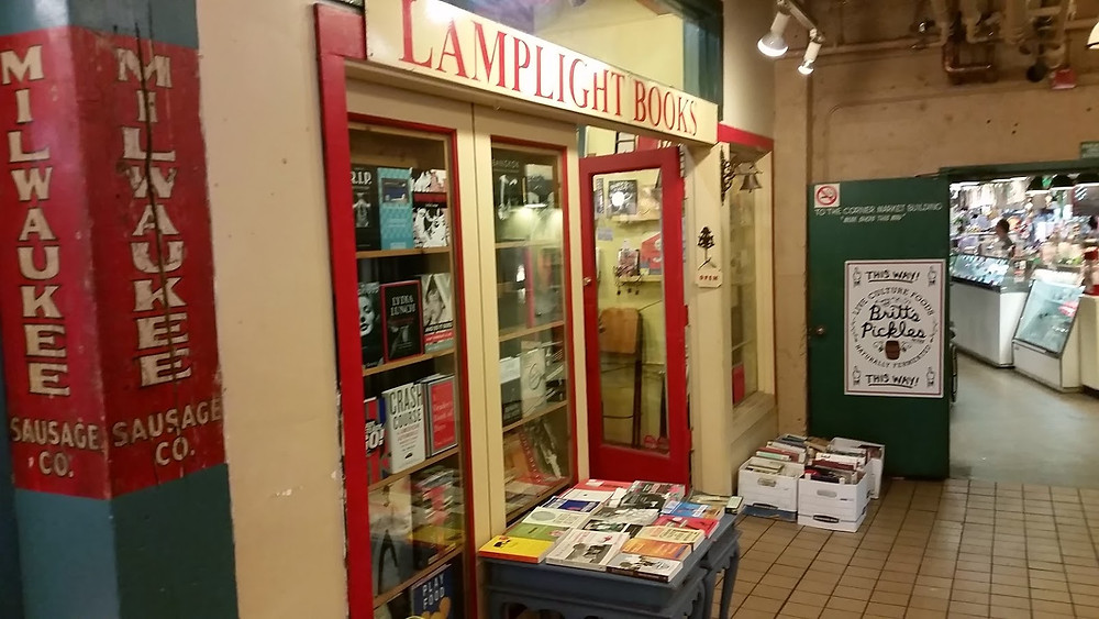 Lamplight Books Pike Place Market Seattle exterior