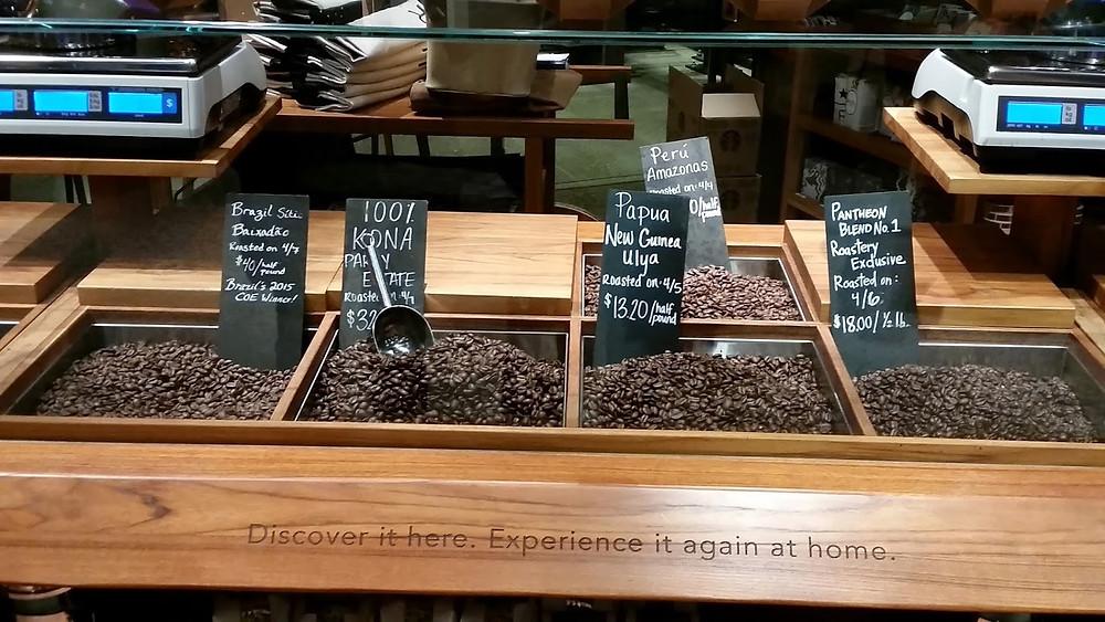 Starbucks Reserve Roastery Beans