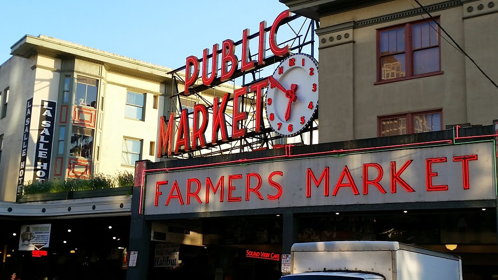 Public Market Sign Pike Place Seattle