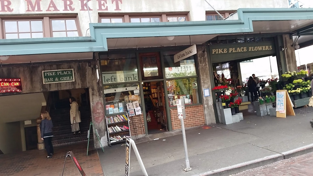 Left Bank Books outside Pike Place Market Seattle