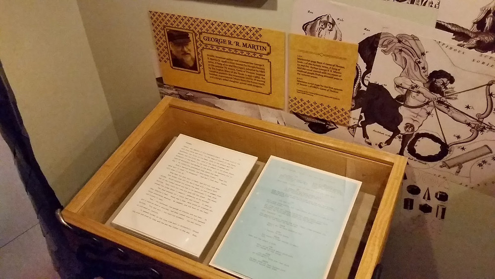 Game of Thrones Manuscript Book Script George R R Martin Experience Music Project Museum of Pop Culture