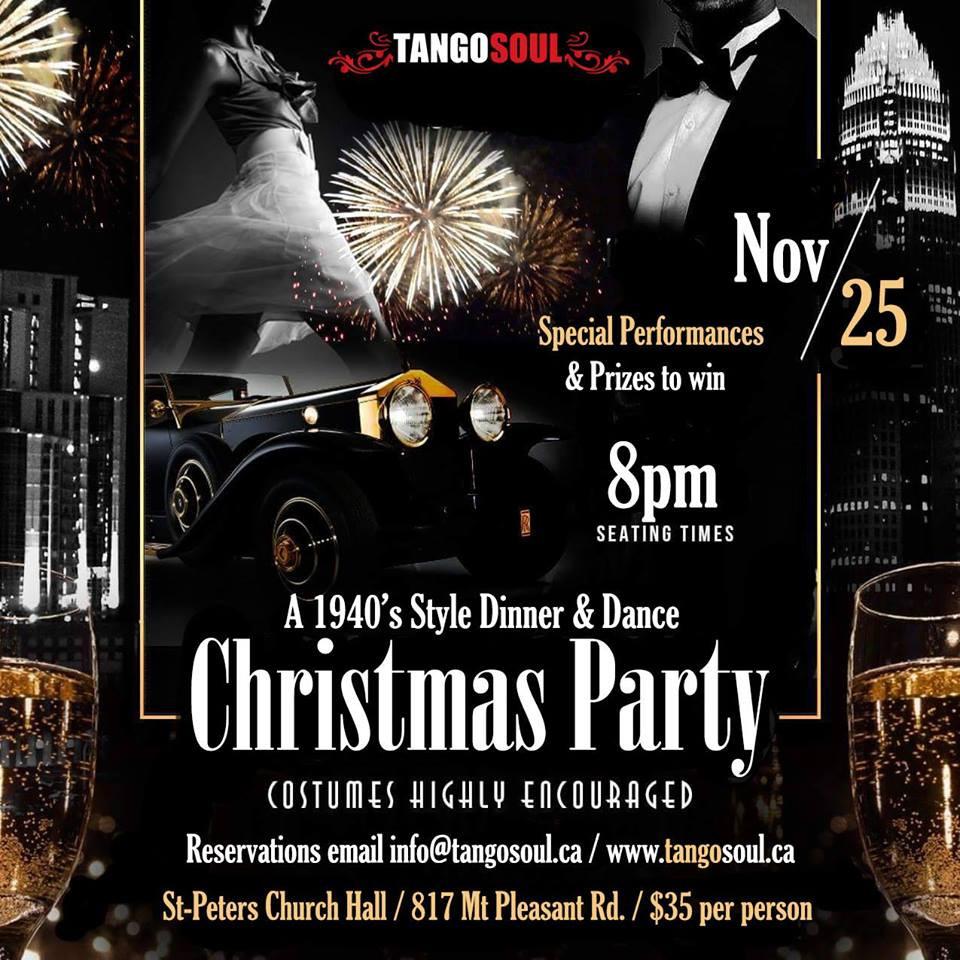 Christmas Party Dinner & Dance Nov 25th 2017