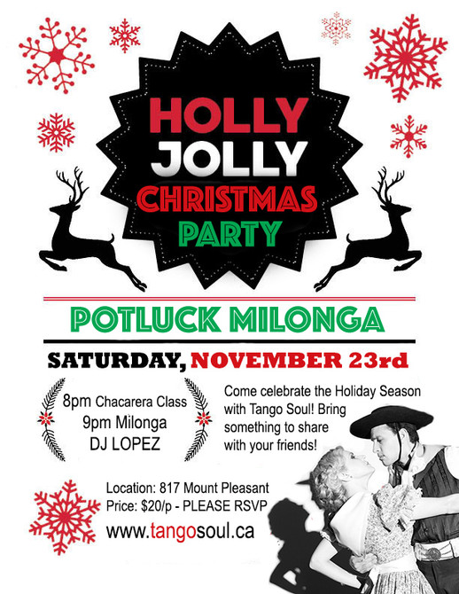 Christmas Potluck Milonga Party