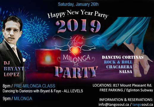 Alma Milonga 2019 New Year Party!
