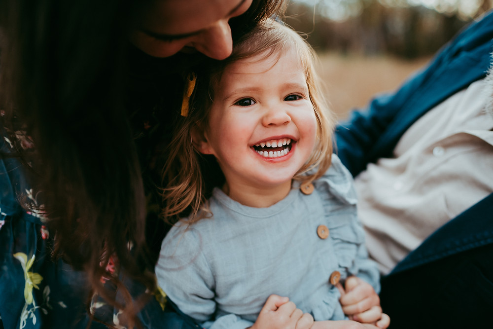 Toddler during family photo session in Jacksonville Florida