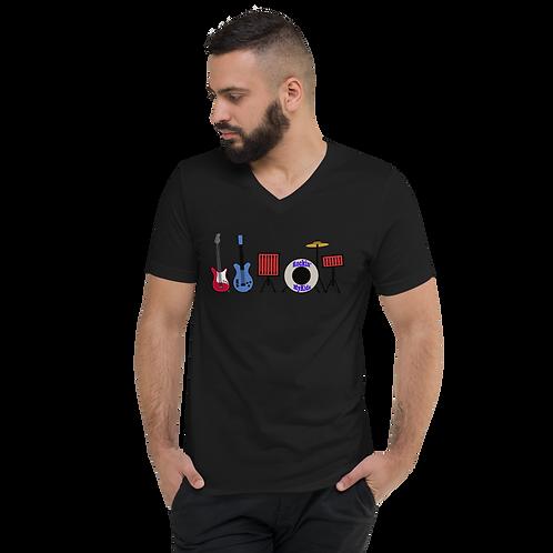 Rockin MyKids Instruments Unisex Short Sleeve V-Neck T-Shirt