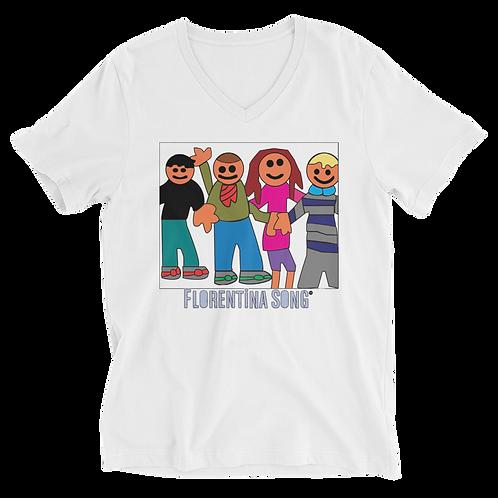 MyKids Friends Unisex Short Sleeve V-Neck T-Shirt