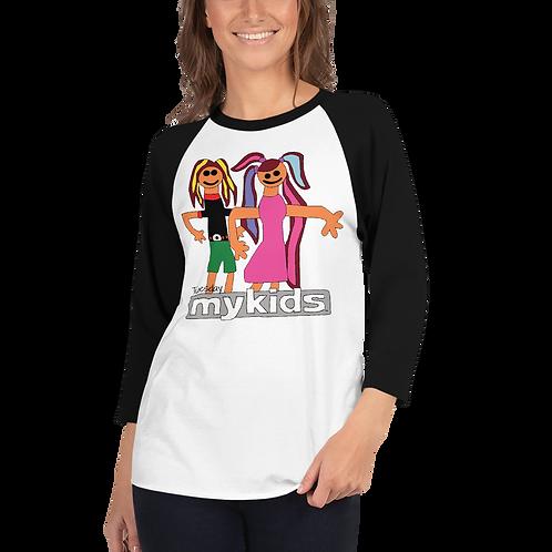 Women's MyKids Friends Tuesday 3/4 sleeve raglan shirt