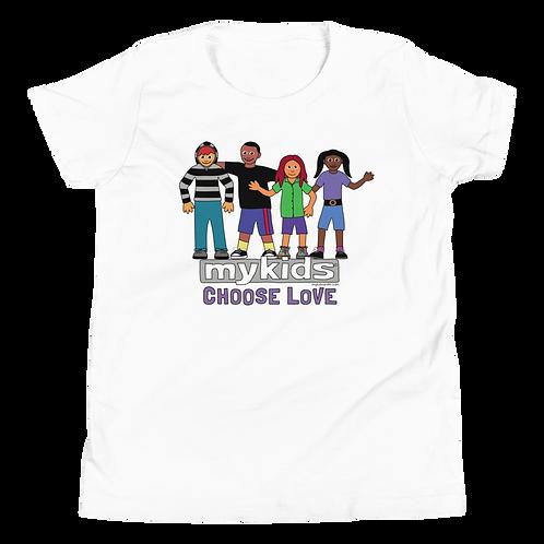 MyKids Unite Choose Love Youth Short Sleeve T-Shirt
