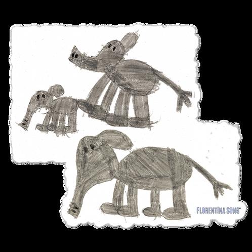 Elephant FamilyBubble-free stickers
