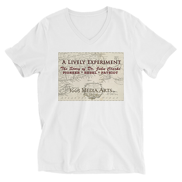 Colonial Map Unisex V-Neck T-Shirt