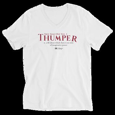 Unisex V-Neck TShirt-Thumper One