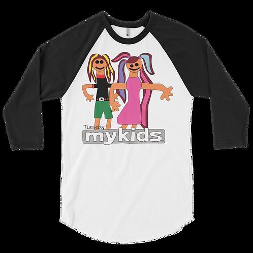Men's MyKids Friends Tuesday 3/4 sleeve raglan shirt