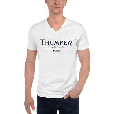 Unisex V-Neck TShirt-Thumper Two