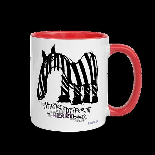 Fancy Stripes Mug with Color Inside