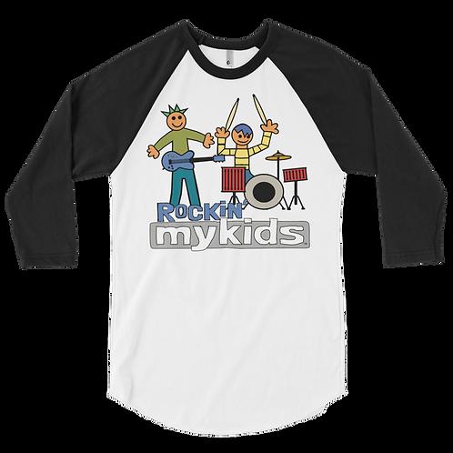 Rockin Men's MyKids Friends 3/4 sleeve raglan shirt