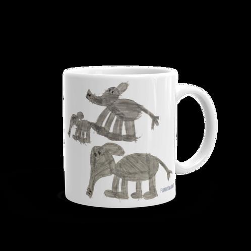 Elephant Family Mug