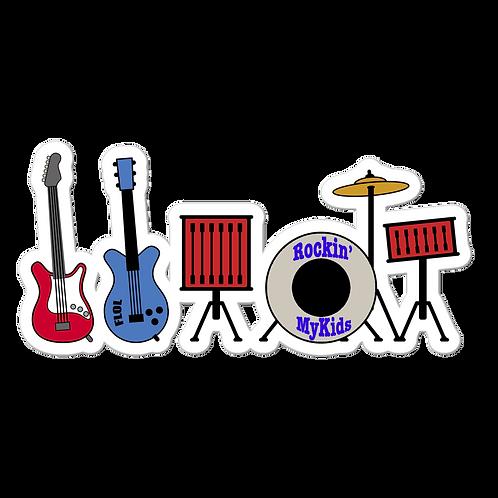 Rockin MyKids Instruments  Bubble-free stickers