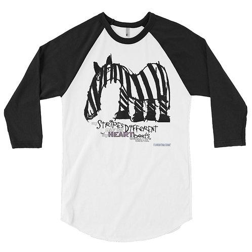 Men's Fancy Stripes 3/4 sleeve raglan shirt