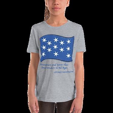 Unisex Youth TShirt-George Washington Flag